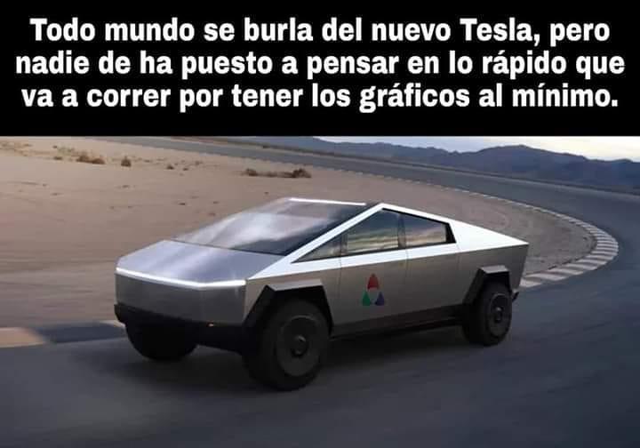 Todo mundo se burla del nuevo Tesla, pero nadie se ha puesto a pensar en lo rápido que va a correr por tener los gráficos al mínimo.