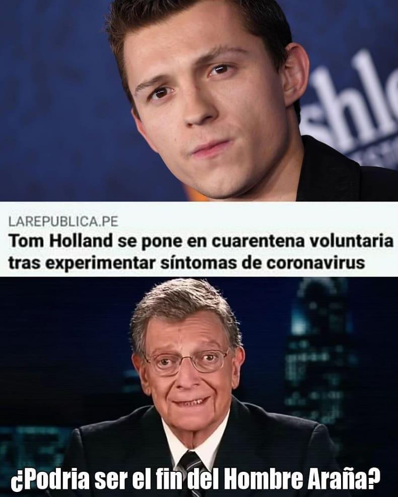 Tom Holland se pone en cuarentena voluntaria tras experimentar síntomas de coronavirus.  ¿Podría ser el fin del Hombre Araña?
