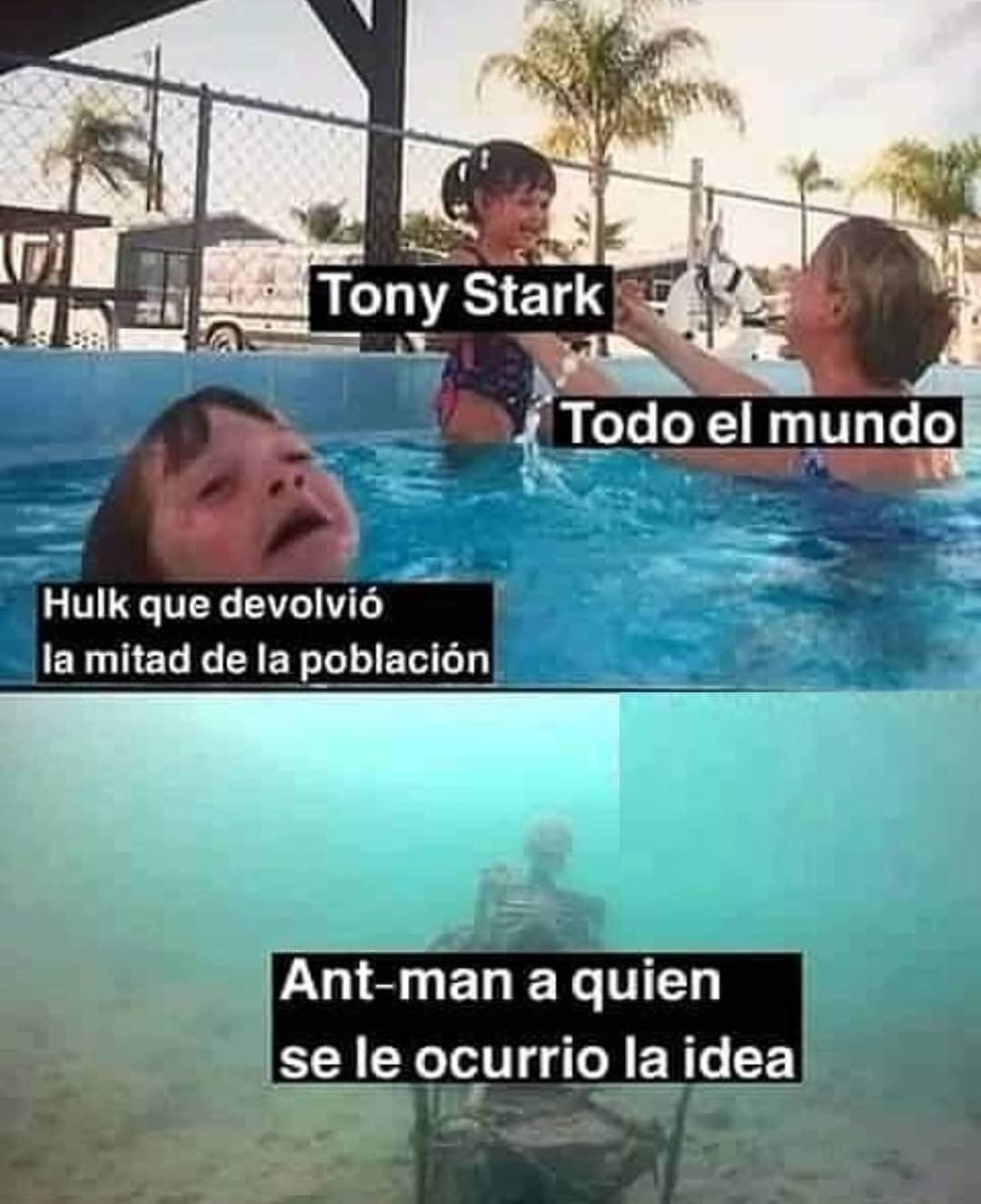 Tony Stark. Todo el mundo. Hulk que devolvió la mitad de la población. Ant-man a quien se le ocurrió la idea.