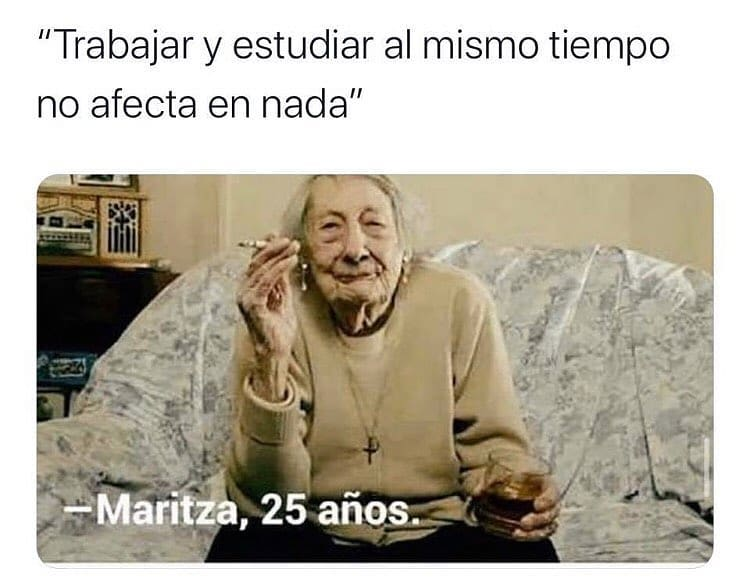 """""""Trabajar y estudiar al mismo tiempo no afecta en nada"""".  Maritza, 25 años."""