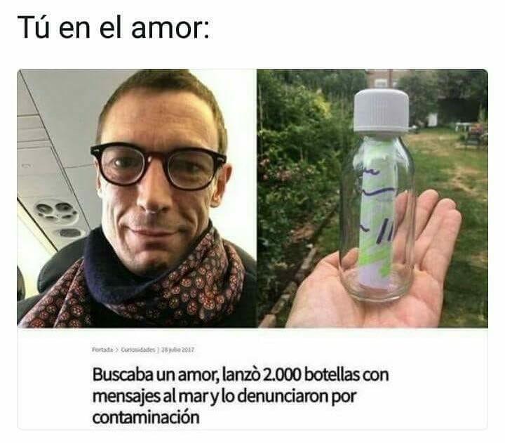 Tú en el amor: Buscaba un amor, lanzó 2.000 botellas con mensajes al mar y lo denunciaron por contaminación.