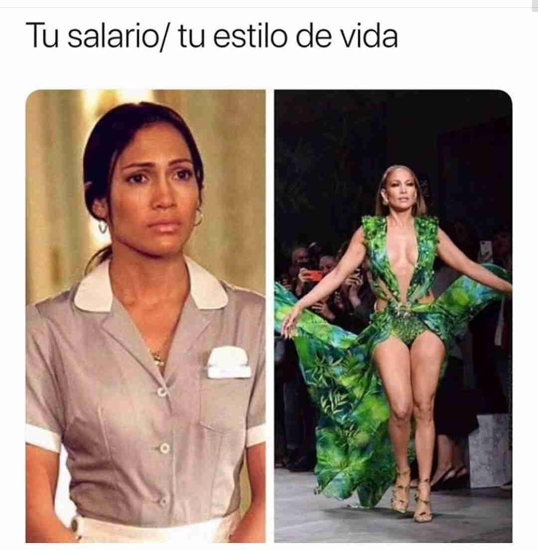 Tu salario. / Tu estilo de vida.