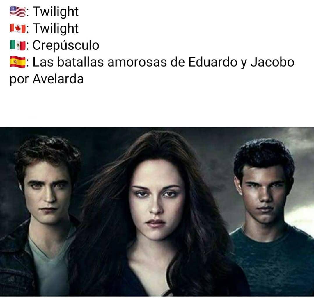 Twilight.  Twilight.  Crepúsculo.  Las batallas amorosas de Eduardo y Jacobo por Avelarda.