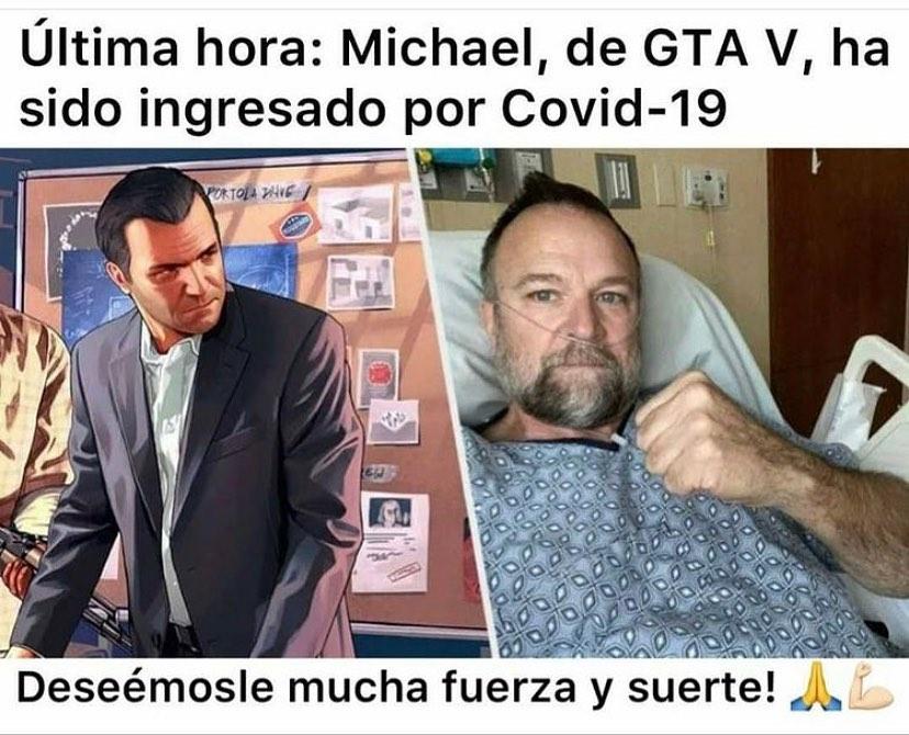 Última hora: Michael, de GTA V, ha sido ingresado por Covid-19. Deseémosle mucha fuerza y suerte!