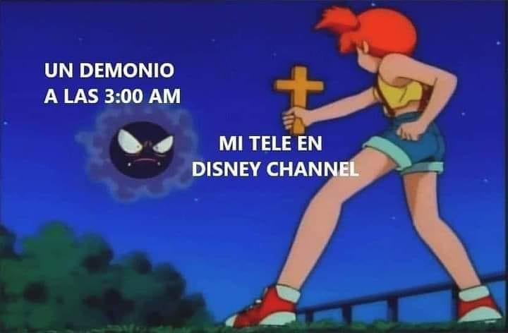 Un demonio a las 3:00 a.m. Mi tele en Disney Channel.