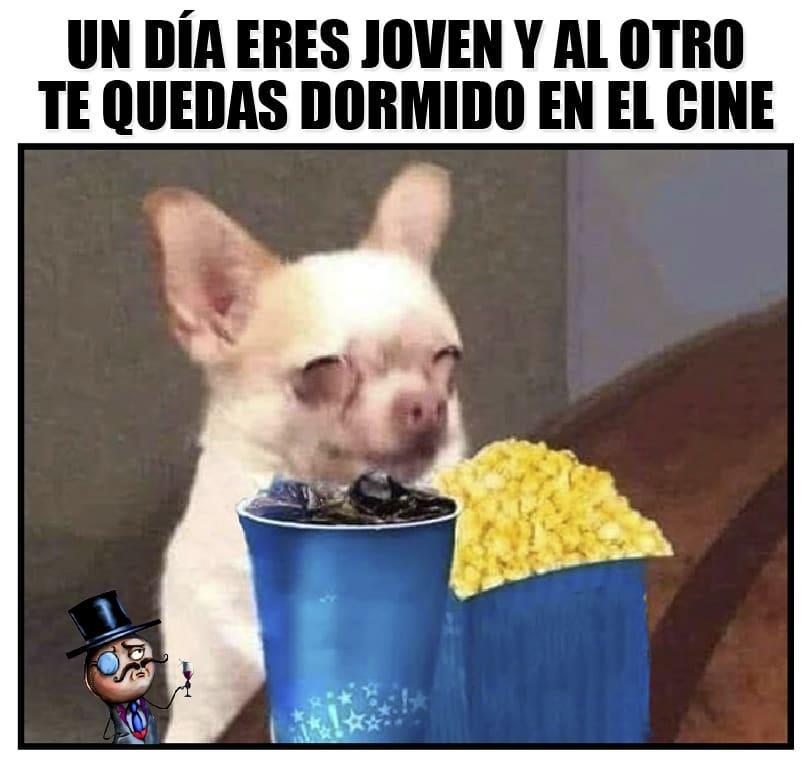 Un día eres joven y al otro te quedas dormido en el cine.
