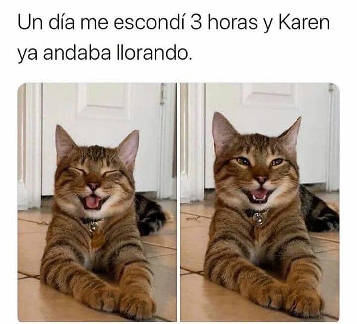 Un día me escondí 3 horas y Karen ya andaba llorando.
