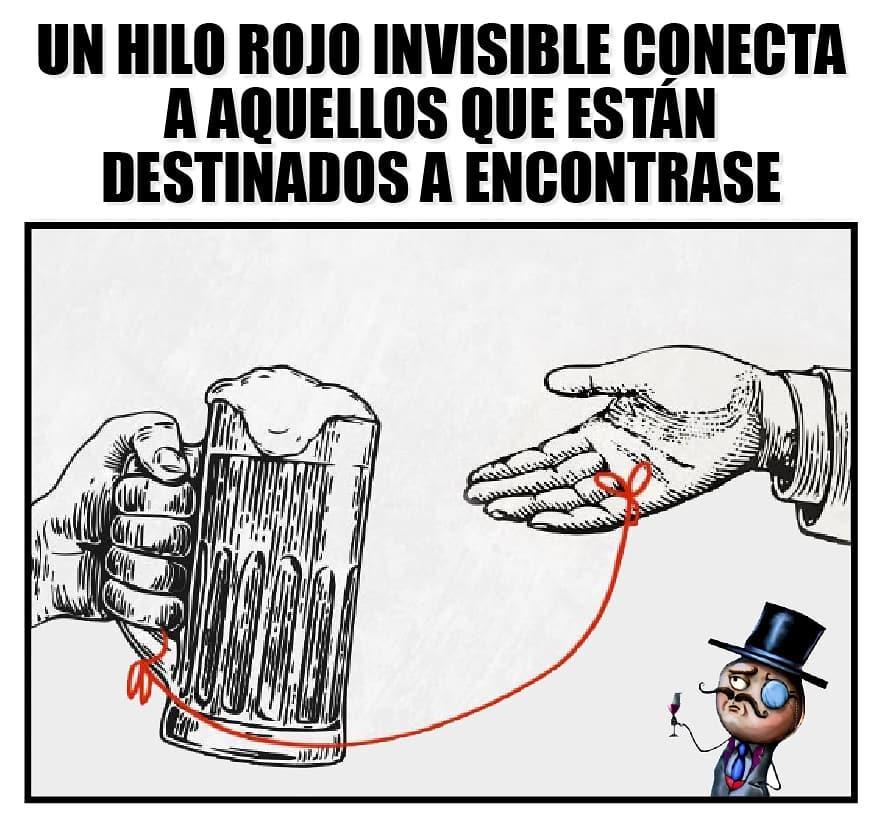 Un hilo rojo invisible conecta a aquellos que están destinados a encontrase.