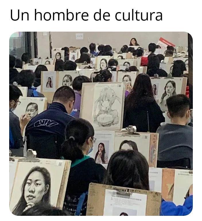 Un hombre de cultura.