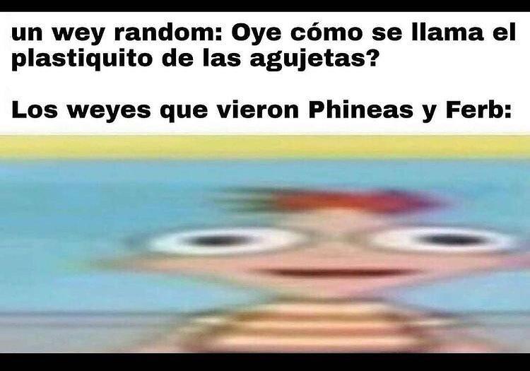 Un wey random: Oye cómo se llama el plastiquito de las agujetas?  Los weyes que vieron Phineas y Ferb: