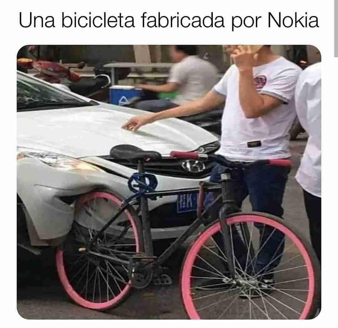 Una bicicleta fabricada por Nokia.