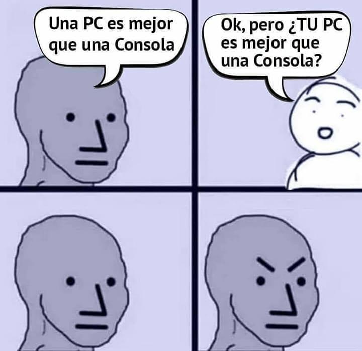 Una PC es mejor que una Consola.  Ok, pero ¿tu PC es mejor que una Consola?