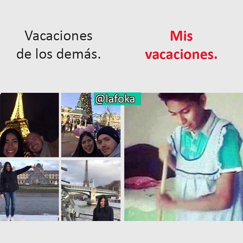 Vacaciones de los demás. / Mis vacaciones.