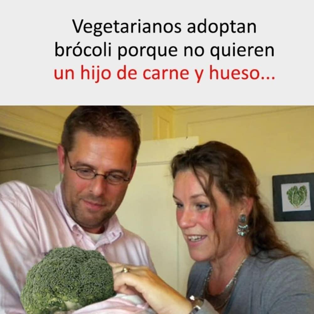 Vegetarianos adoptan brócoli porque no quieren un hijo de carne y hueso.