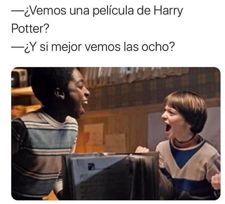¿Vemos una película de Harry Potter?  ¿Y si mejor vemos las ocho?