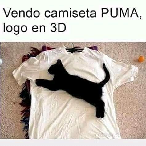 Vendo camiseta Puma, logo en 3D.