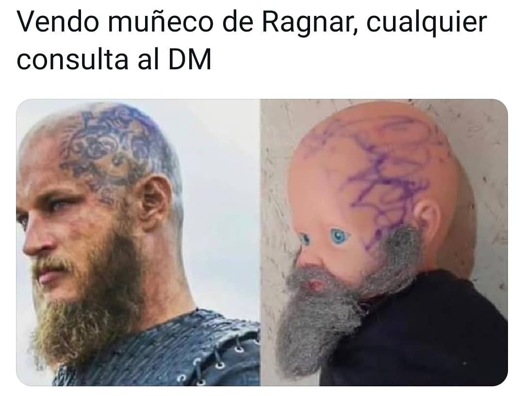 Vendo muñeco de Ragnar, cualquier consulta al DM.