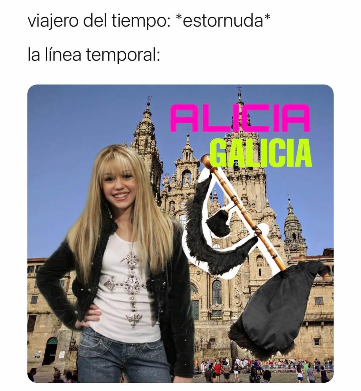 Viajero del tiempo: *estornuda*  La línea temporal: Alicia Galicia.