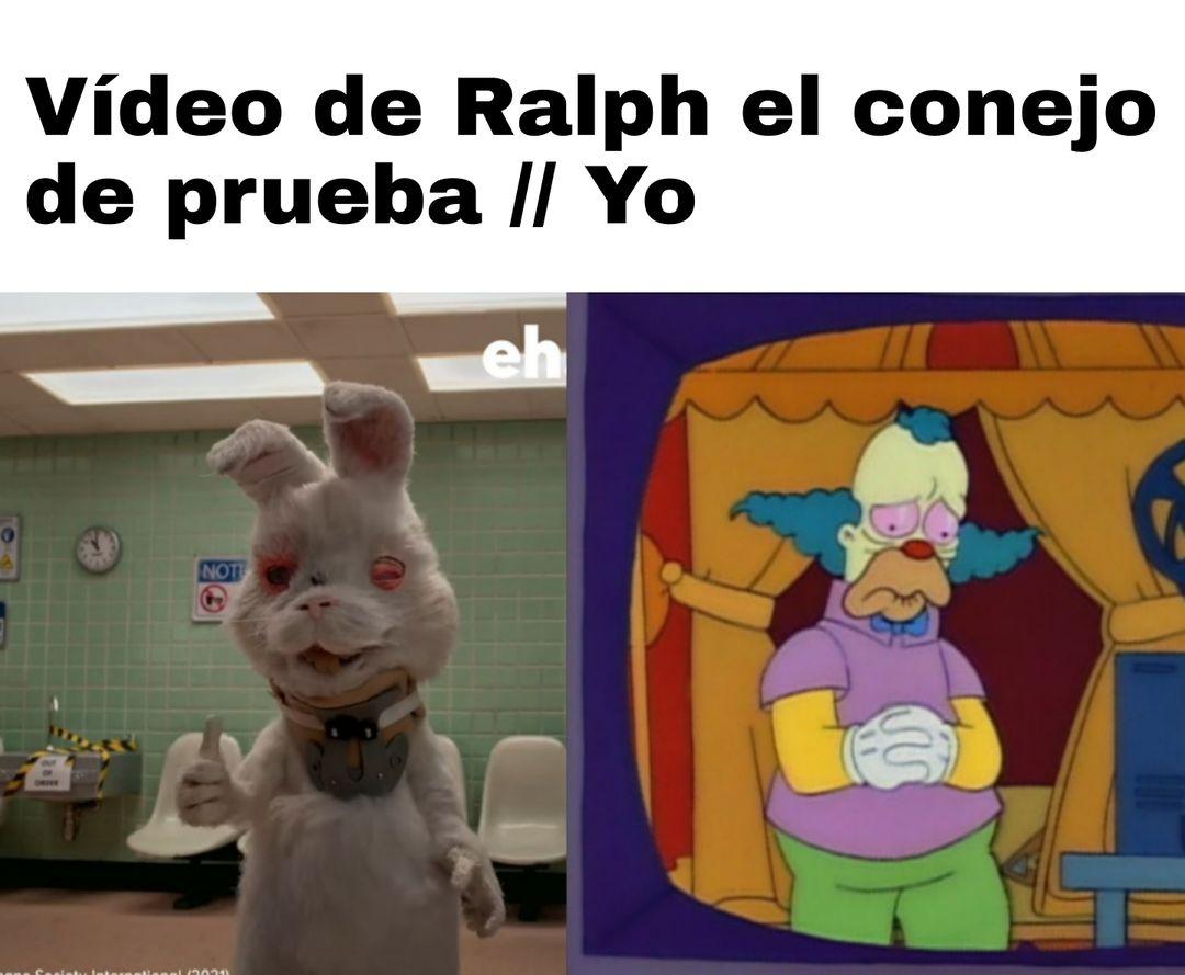 Vídeo de Ralph el conejo de prueba. / Yo.