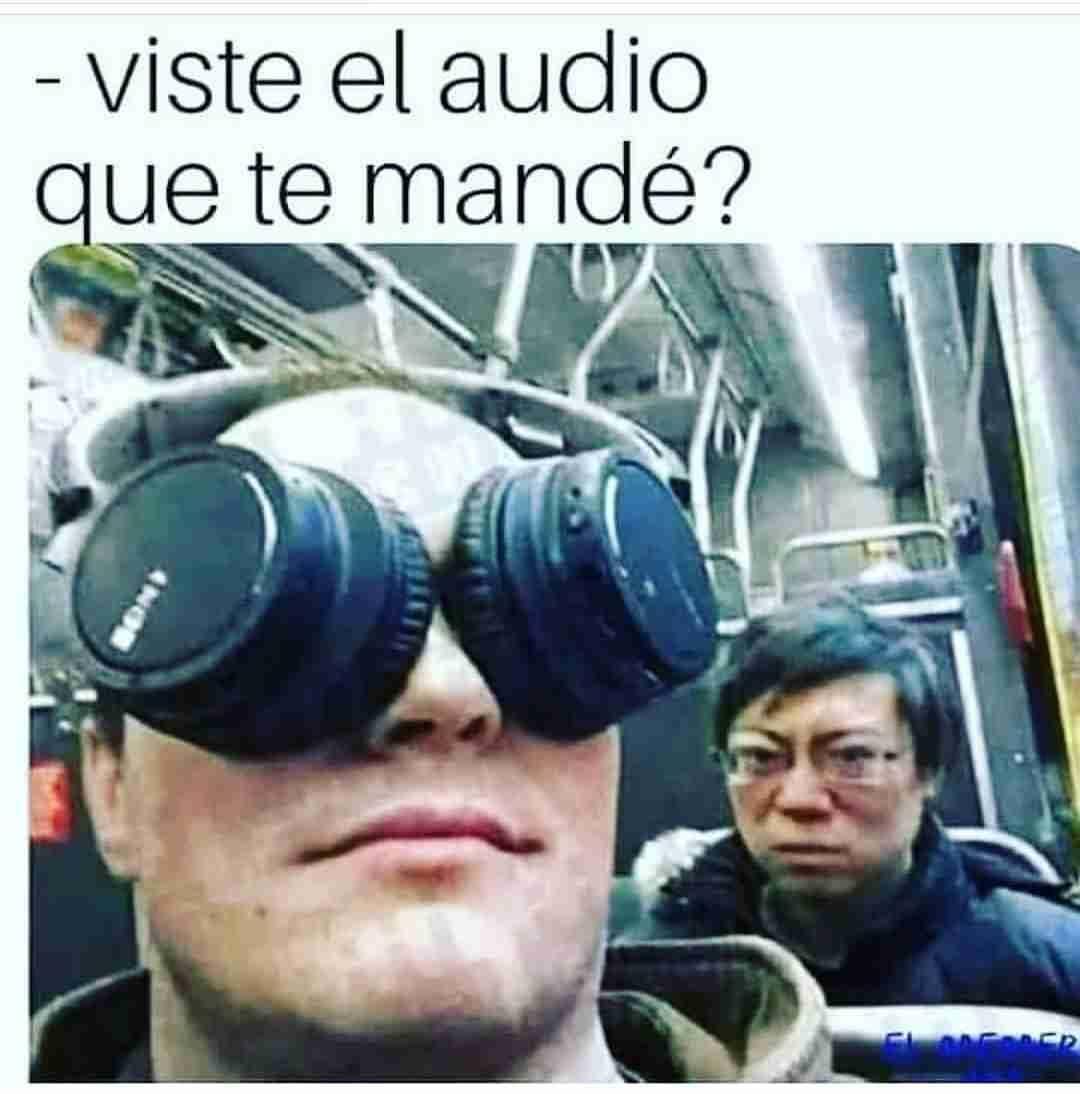 Viste el audio que te mandé?