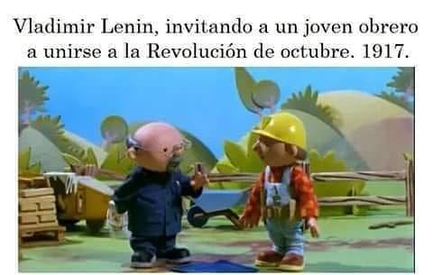 Vladimir Lenin, invitando a un joven obrero a unirse a la Revolución de octubre. 1917.