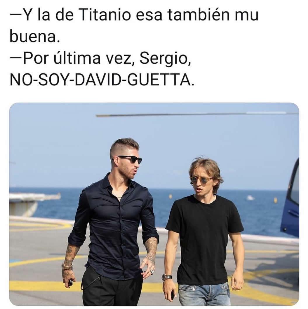 Y la de Titanio esa también mu buena.  Por última vez, Sergio, NO-SOY-DAVID-GUETTA.