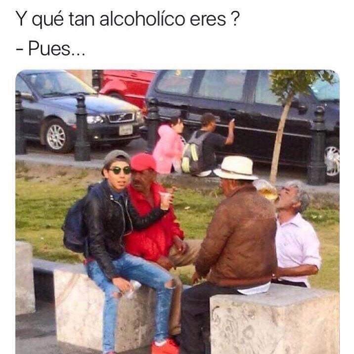 Y qué tan alcohólico eres?  Pues...