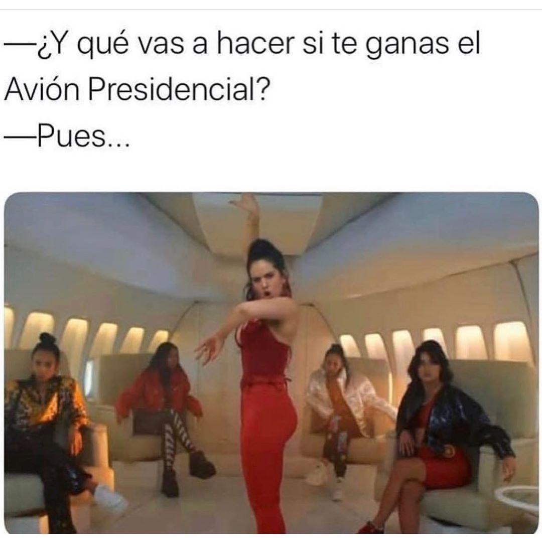 ¿Y qué vas a hacer si te ganas el Avión Presidencial?  Pues...