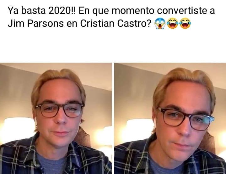 Ya basta 2020!! En que momento convertiste a Jim Parsons en Cristian Castro?