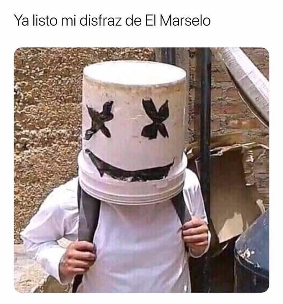 Ya listo mi disfraz de El Marselo.