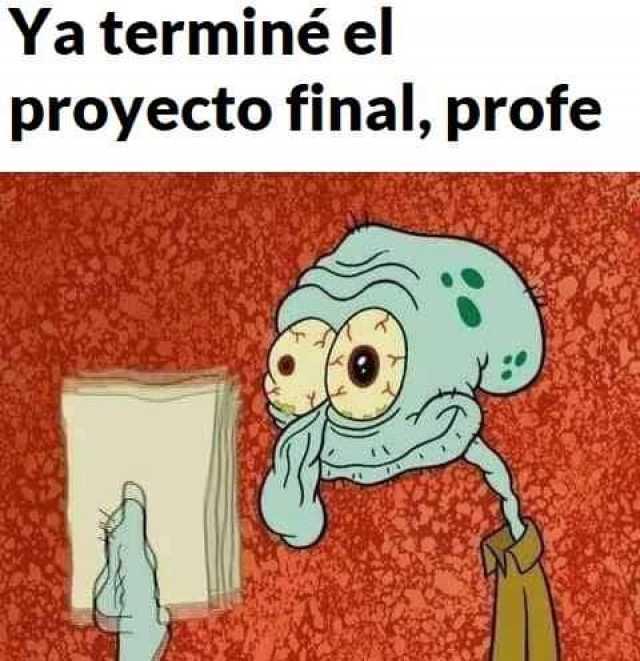 Ya terminé el proyecto final, profe.