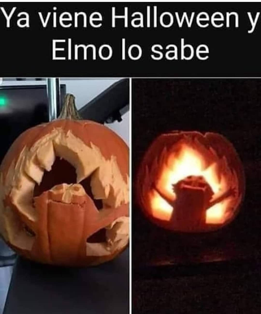 Ya viene Halloween y Elmo lo sabe.