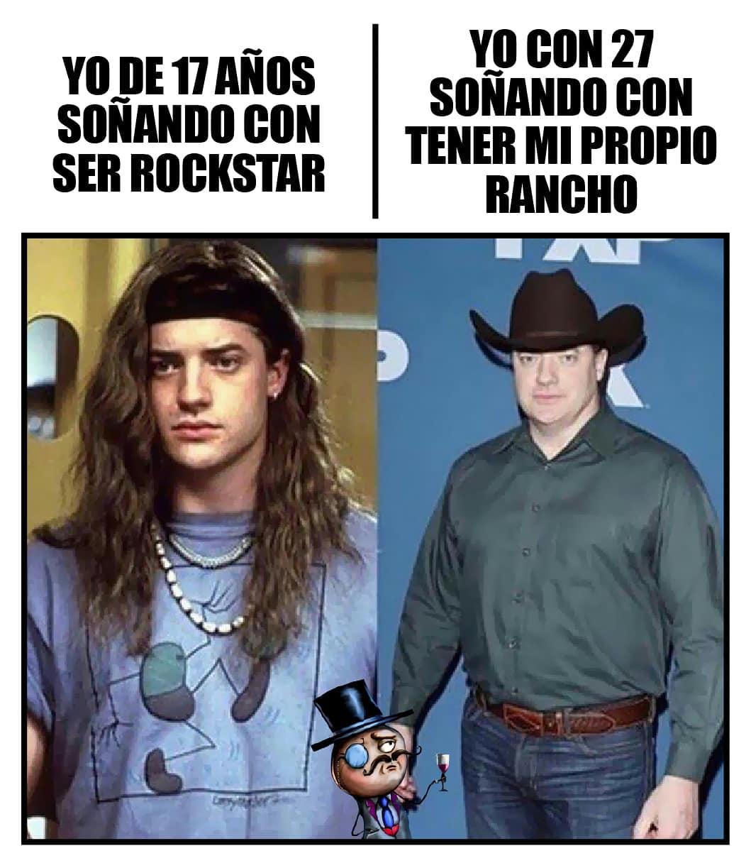 Yo de 17 años soñando con ser Rockstar. / Yo con 27 soñando con tener mi propio rancho.