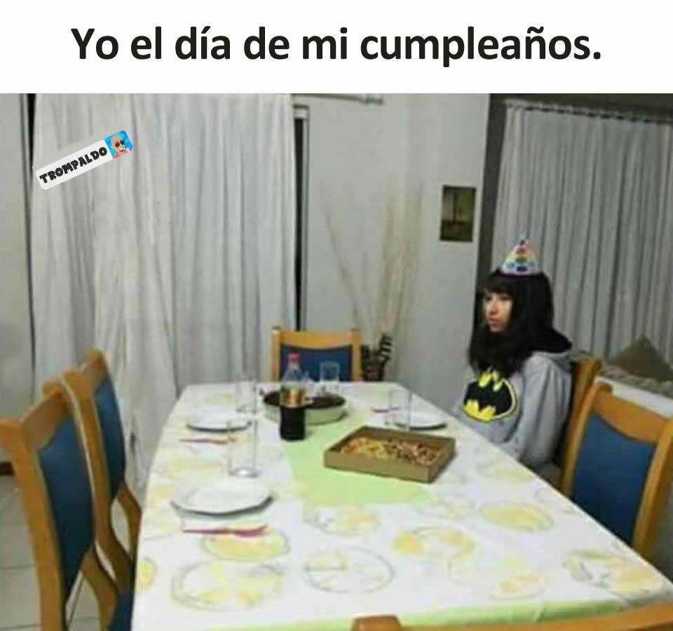 Yo el día de mi cumpleaños.