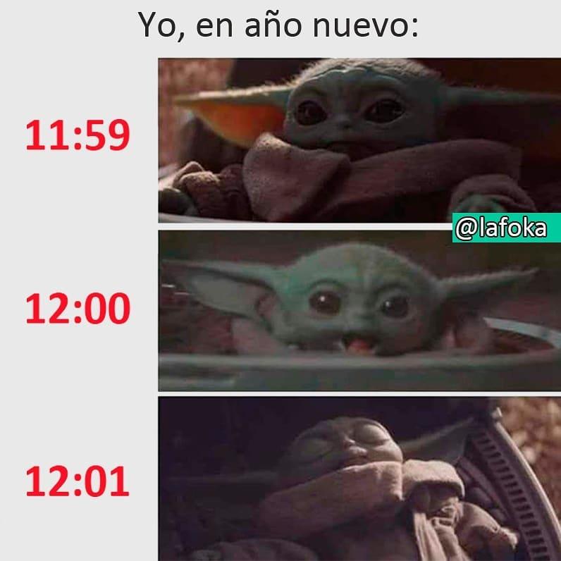 Yo, en año nuevo: 11:59 / 12:00 / 12:01