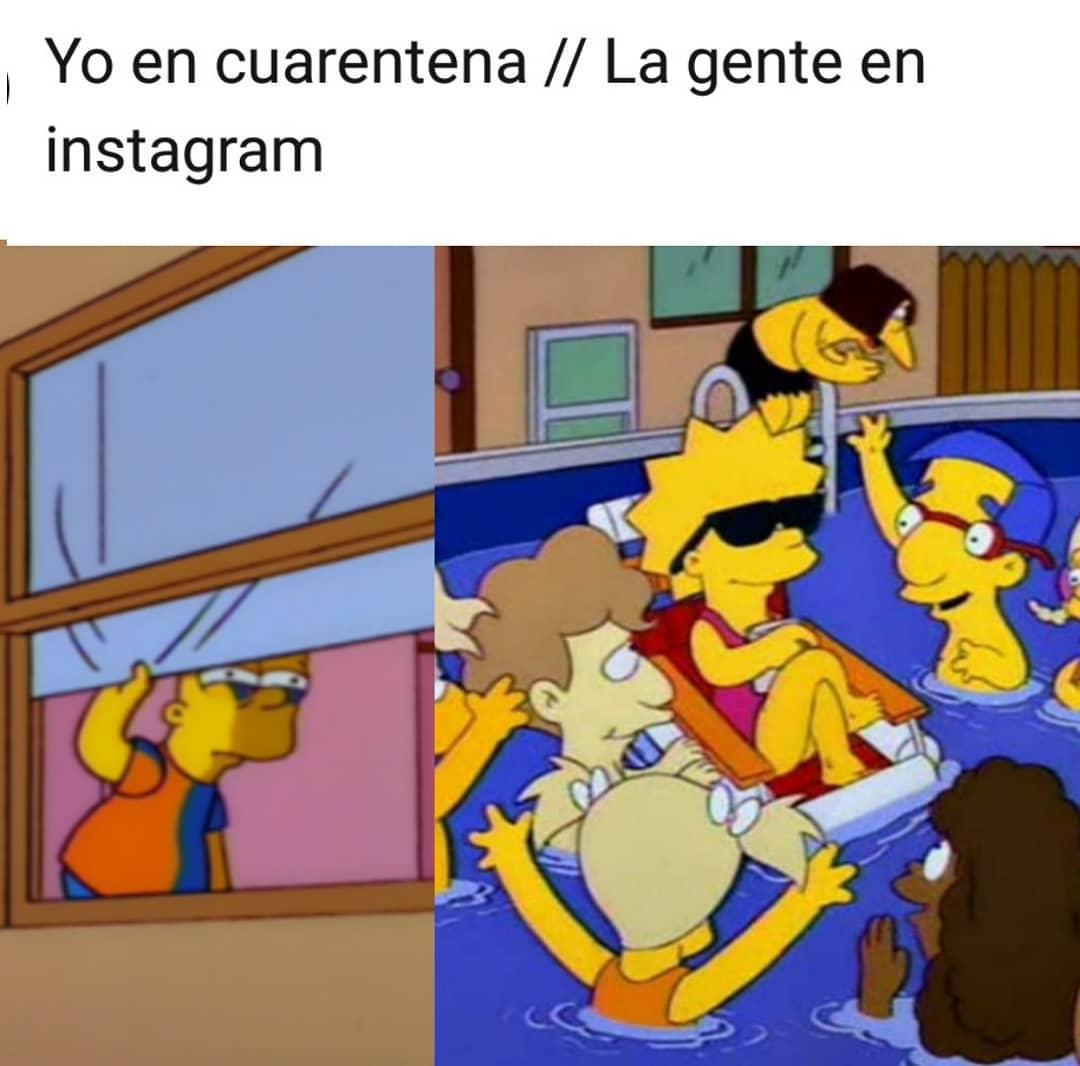Yo en cuarentena. // La gente en Instagram.