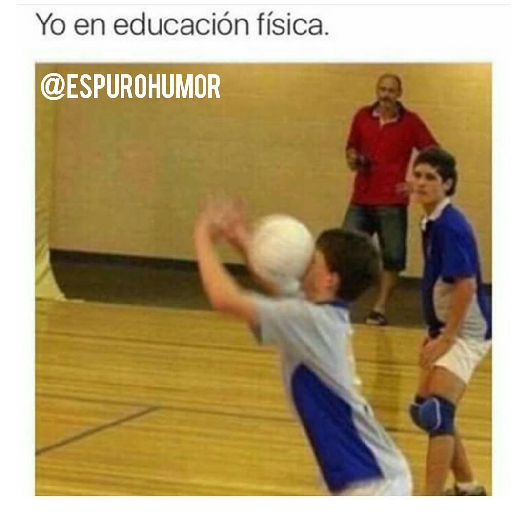 Yo en educación física.