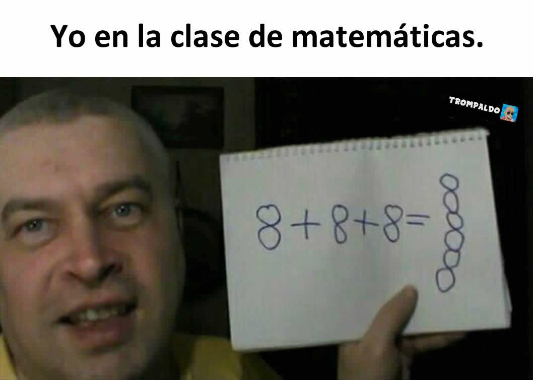 Yo en la clase de matemáticas.