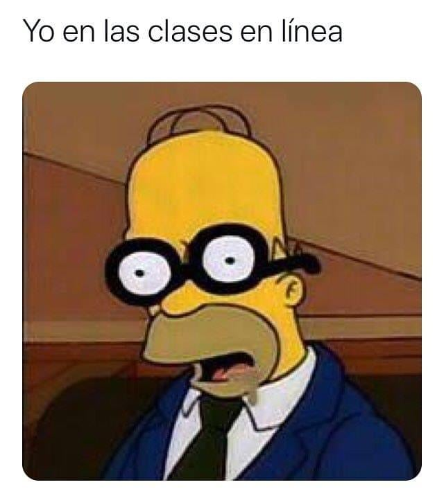 Yo en las clases en línea.