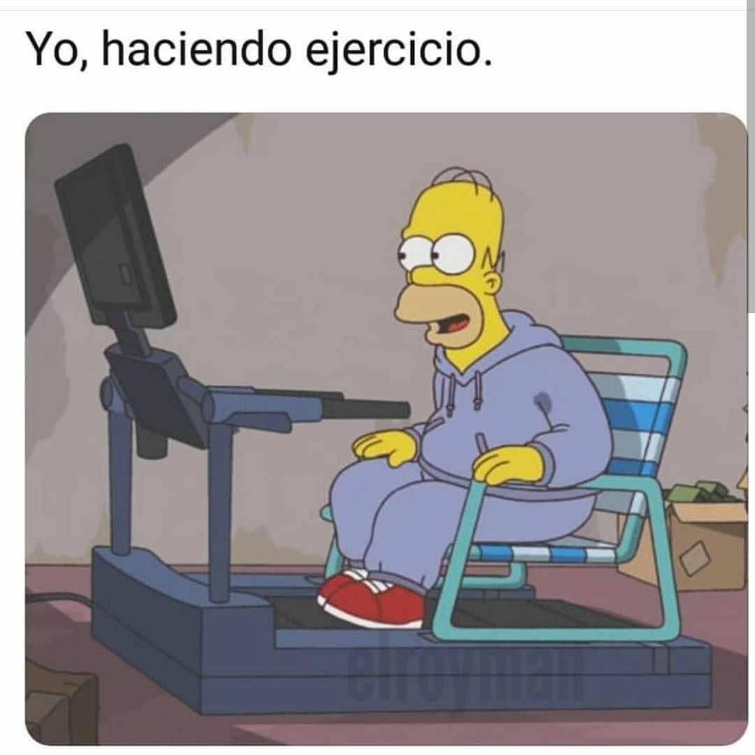 Yo, haciendo ejercicio.
