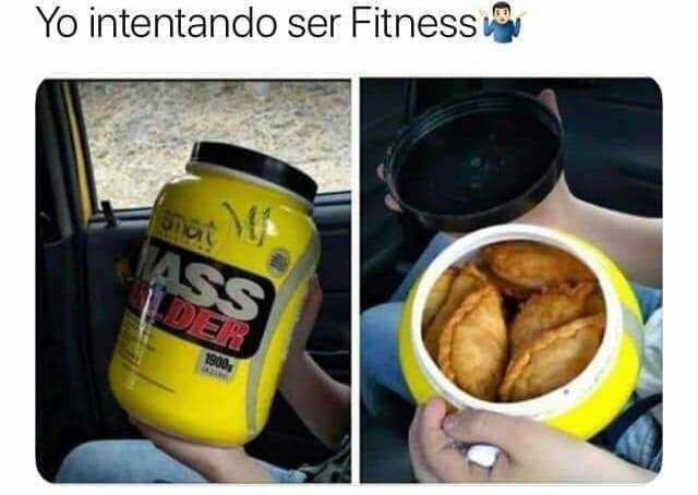 Yo intentando ser Fitness.