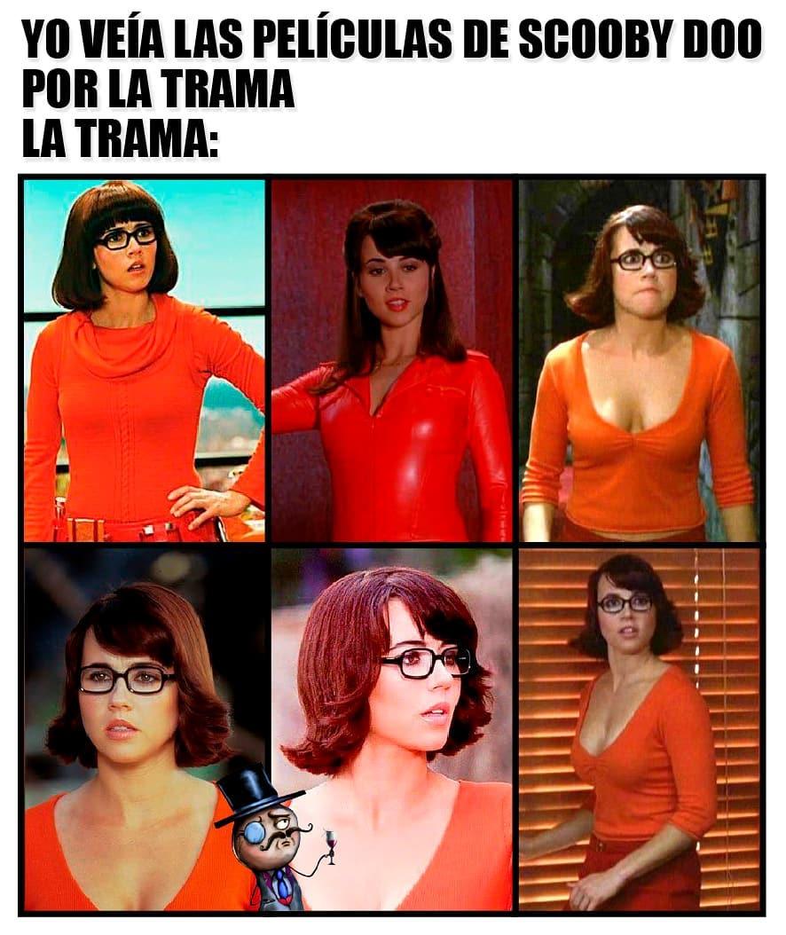 Yo veía las películas de Scooby Doo por la trama.  La trama: