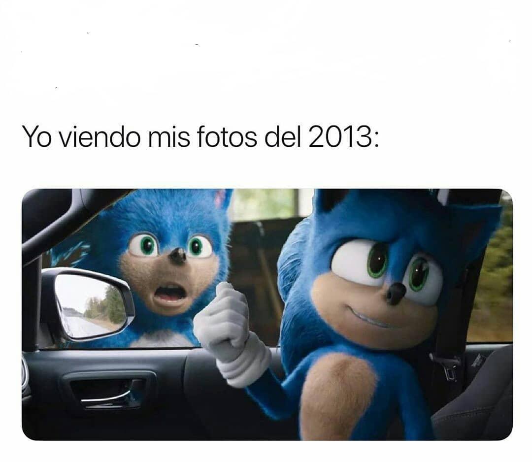 Yo viendo mis fotos del 2013: